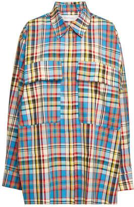 Marques Almeida Marques' Almeida Plaid Oversized Shirt with Cotton