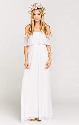 Show Me Your Mumu Caitlin Ruffle Maxi Dress ~ Light Lavender Chiffon