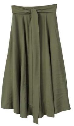 MANGO Belt long skirt