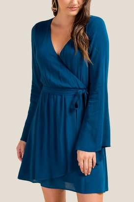 Jennie Bell Sleeve Wrap Dress - Dark Teal