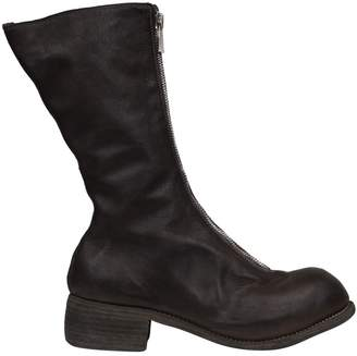 Guidi Pl9 Front Zip Leather Boots