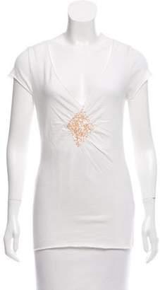 Velvet Sequin Short Sleeve Top
