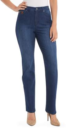 Gloria Vanderbilt Petite Amanda Embellished High-Waisted Jeans