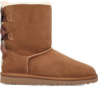 UGG Bailey Bow sheepskin boots 8-10 years $164 thestylecure.com
