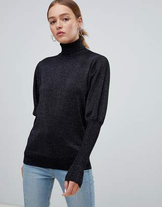 Minimum Moves By Leg Of Mutton Sleeve Sweater