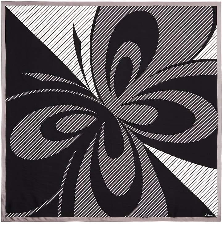 Echo Silk Butterfly Stripe Square Scarf