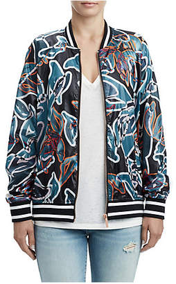 True Religion WOMENS TROPIC FLORAL BOMBER JACKET