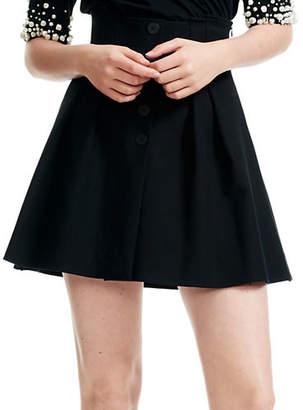 Maje Jioma Cotton-Blend Pleated Mini Skirt
