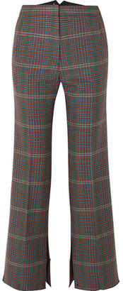 Golden Goose Rendena Checked Wool Wide-leg Pants - Gray