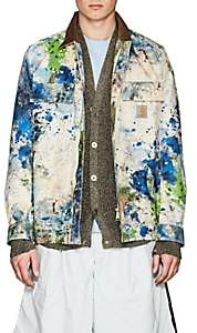 Junya Watanabe Comme des Garçons Men's Paint Splatter Cotton Canvas Jacket-White