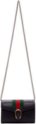 Gucci Black Web Dionysus Chain Wallet Bag