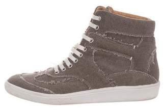 MM6 MAISON MARGIELA High-Top Canvas Sneakers