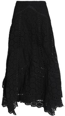 Zimmermann Broderie Anglaise Cotton Midi Skirt