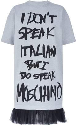 Moschino I Don't Speak Italian T-Shirt Dress