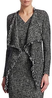 Akris Punto Women's Tweed Waterfall Cardigan