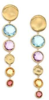 Marco Bicego Jaipur Semi-Precious Multi-Stone Graduated Drop Earrings