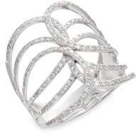 Effy 0.54 TCW Diamond & 14K White Gold Ring