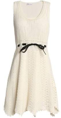 RED Valentino Satin-Trimmed Crocheted Cotton Dress