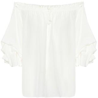 Diane von Furstenberg Georganne silk crepe blouse