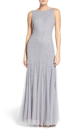 Adrianna Papell Women's Adrianna Papell Beaded Gown