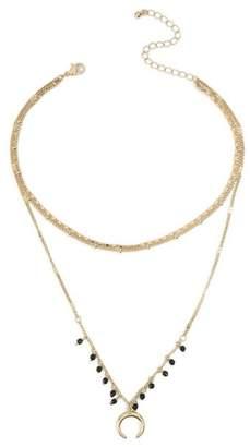 Miss Selfridge Beaded multi-row necklace