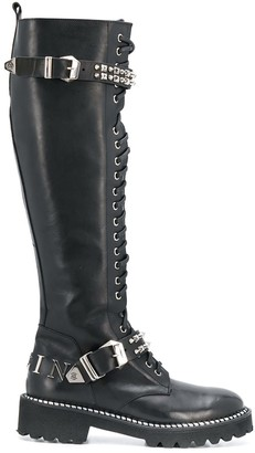 Philipp Plein knee-high combat boots