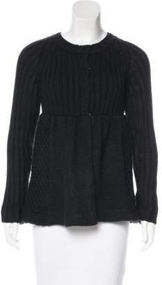 Miu Miu Knit Wool-Blend Cardigan