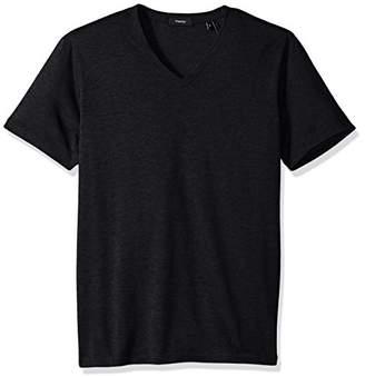 Theory Men's Claey V Plaito Dressy V Neck T-Shirt