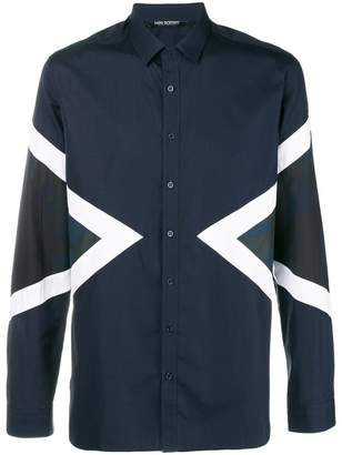 Neil Barrett camouflage triangles shirt
