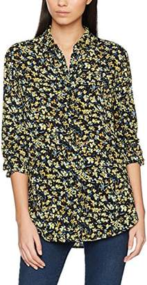 069f3d3abe3c4f at Amazon.co.uk · Warehouse Women s Violet Floral Regular Fit Floral Long  Sleeve Blouse