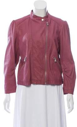 Rebecca Taylor Zip-Up Leather Jacket w/ Tags