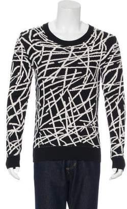 Christian Dior 2007 Wool Intarsia Knit Sweater