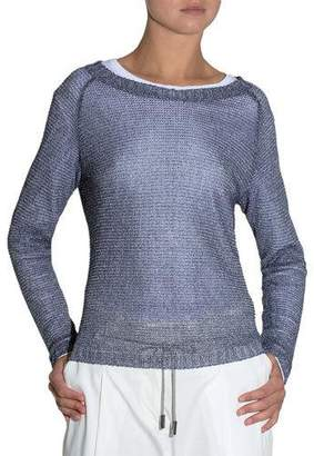 Eleventy Bateau-Neck Knit Sweater