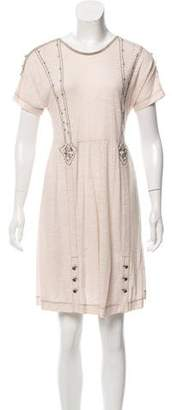 Mayle Silk-Trimmed Embroidered Dress