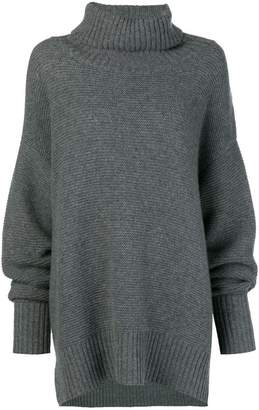 N.Peal chunky ribbed knitted tunic