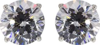 FANTASIA JEWELRY Cubic Zirconia Round Stud Earrings