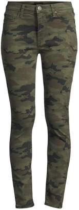 Hudson Jeans Camo High-Rise Skinny Jeans