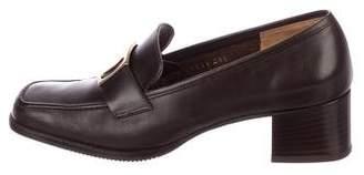 Salvatore Ferragamo Leather Low Heel Pumps