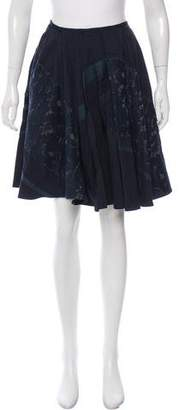 Dries Van Noten Open Knit Knee-Length Skirt