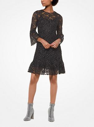 Michael Kors Metallic Corded Lace Dress