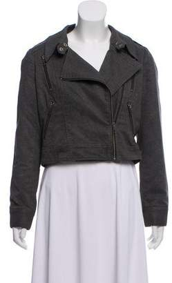 Opening Ceremony Pointed Collar Zip-Up Jacket