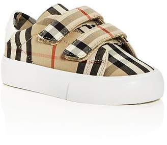 Burberry Unisex Markham Check Low-Top Sneakers - Walker, Toddler