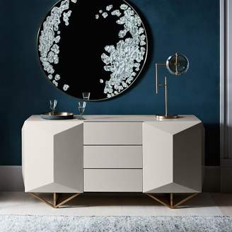 "west elm Faceted Lacquer Buffet (65"")"