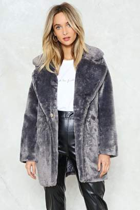Nasty Gal All Fur the Glory Faux Fur Coat