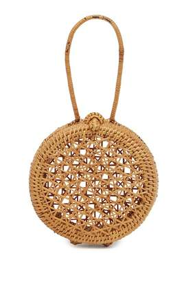 Pink Haley Londyn Woven Straw Coin Purse