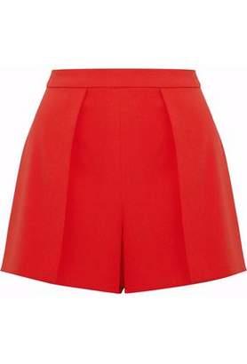 Alice + Olivia Pleated Crepe Shorts