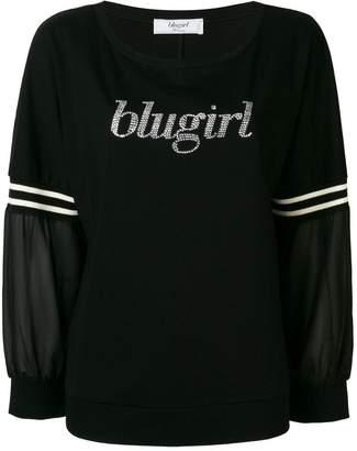 Blugirl logo embroidered sweater