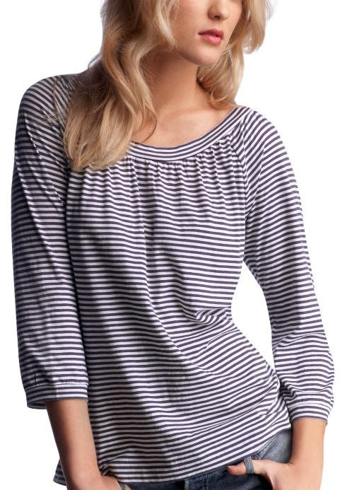 Striped boatneck T