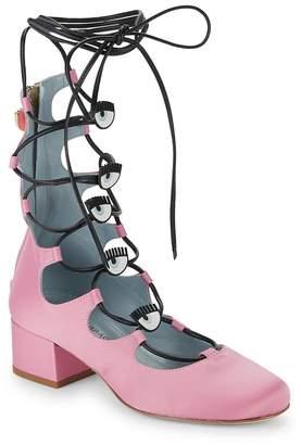 Chiara Ferragni Women's Eye Lace-Up Sandals