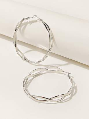 Shein Double Layered Spiral Hoop Earrings 1pair